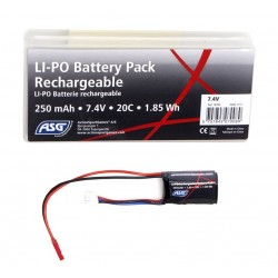 ASG 7.4V 250mAh 20C Li-Po Battery - JST Type