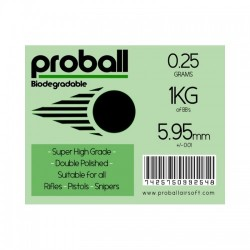 Proball 0.25g biodegradable 1kg ( 4000 rounds)
