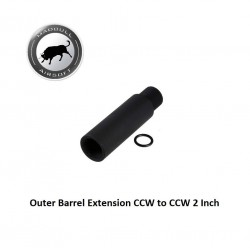 Outer Barrel Extension CCW to CCW 2 Inch