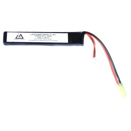 Lipo battery 7,4v 1400mah 20c type Stick